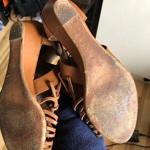 Zara Shoes - Zara Gladiator Sandals brown. USED. Sz 36